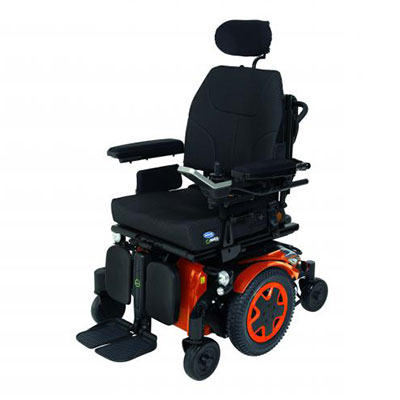 Red and Black Power Wheelchair